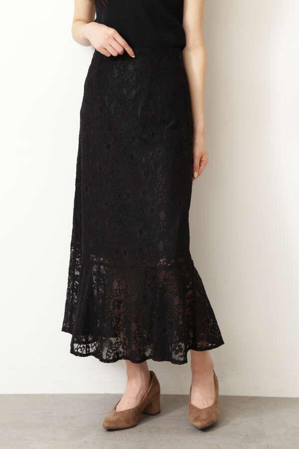 《Sシリーズ対応商品》ハイウエストレースマーメードスカート