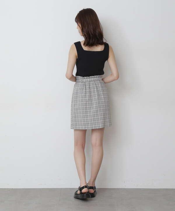 《Sシリーズ対応商品》チェックベルト付きミニスカート