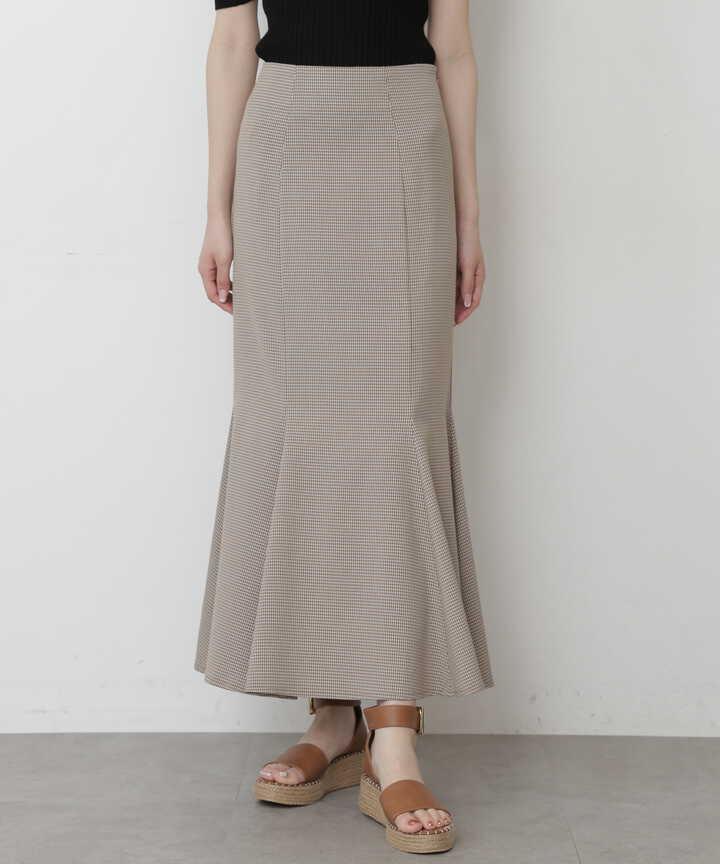 【追加生産予約6月上旬-中旬入荷予定】カラーチェックマーメイドスカートⅡ