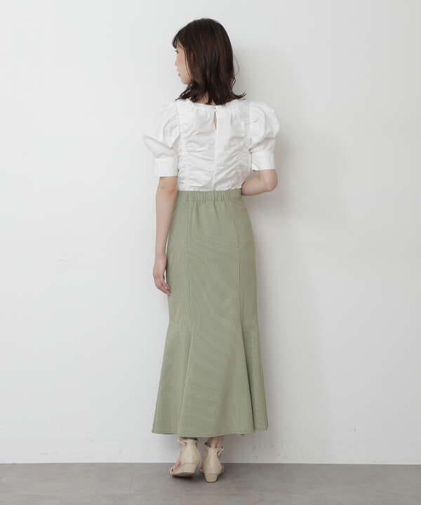 カラーチェックマーメイドスカートⅡ