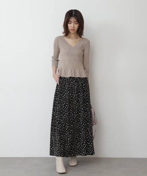 《Sシリーズ対応商品》レトロフラワーマキシスカート