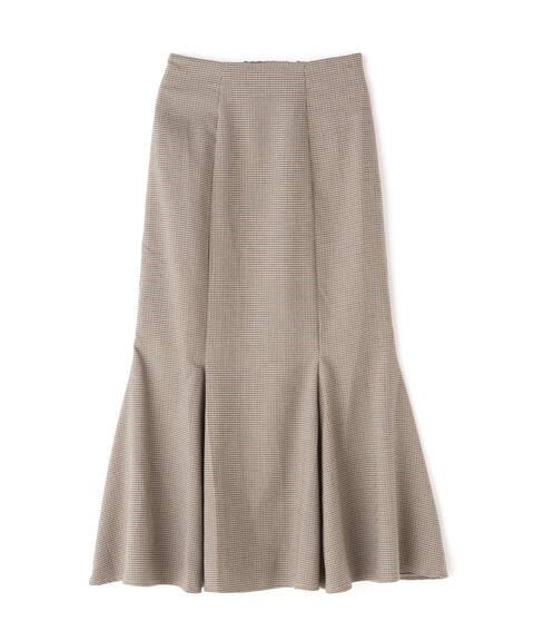 チェックマーメイドスカート