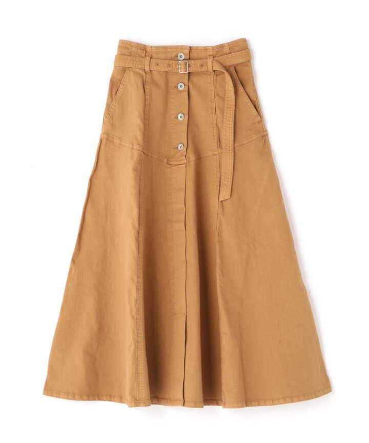 《Sシリーズ対応商品》ヨークフレアデニムスカート