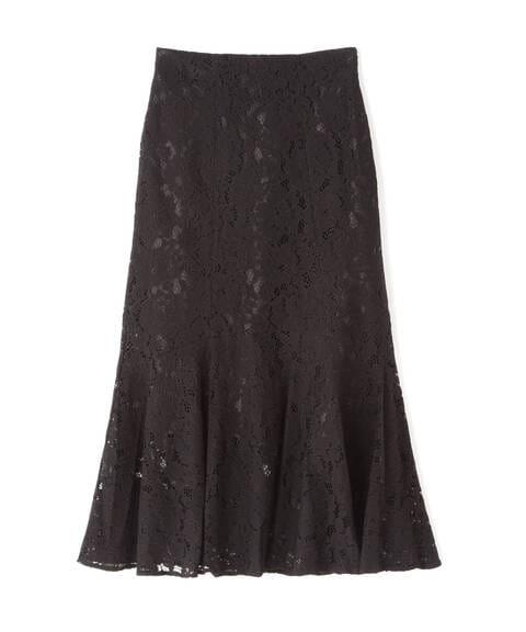 【追加生産予約10月下旬-11月上旬入荷予定】《Sシリーズ対応商品》ラウンドペプラムマーメイドレーススカート