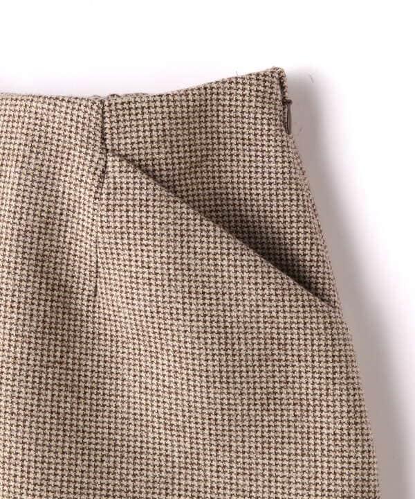 《Sシリーズ対応商品》起毛チェック台形ミニスカート