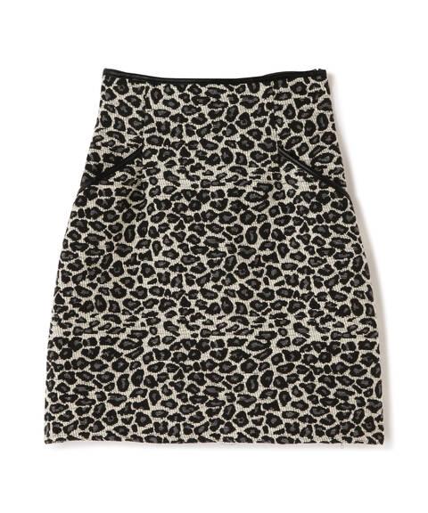 ジャガード台形ミニスカート