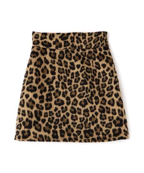 《Sシリーズ対応商品》ハイウエストレオパードミニスカート