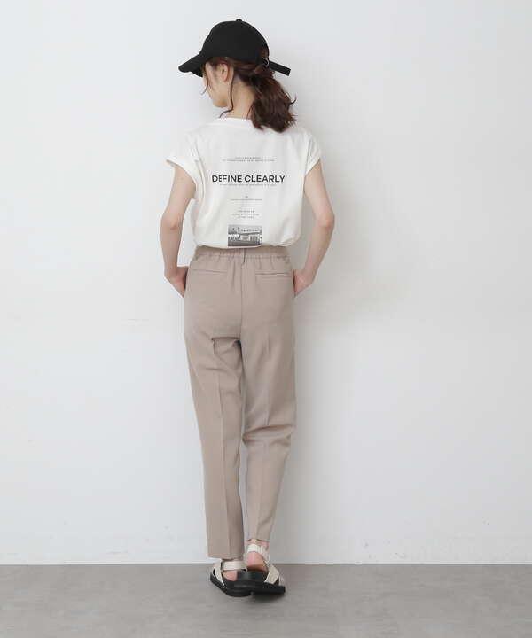 《Sシリーズ対応商品》ストレッチダブルジョーゼットテーパードパンツ