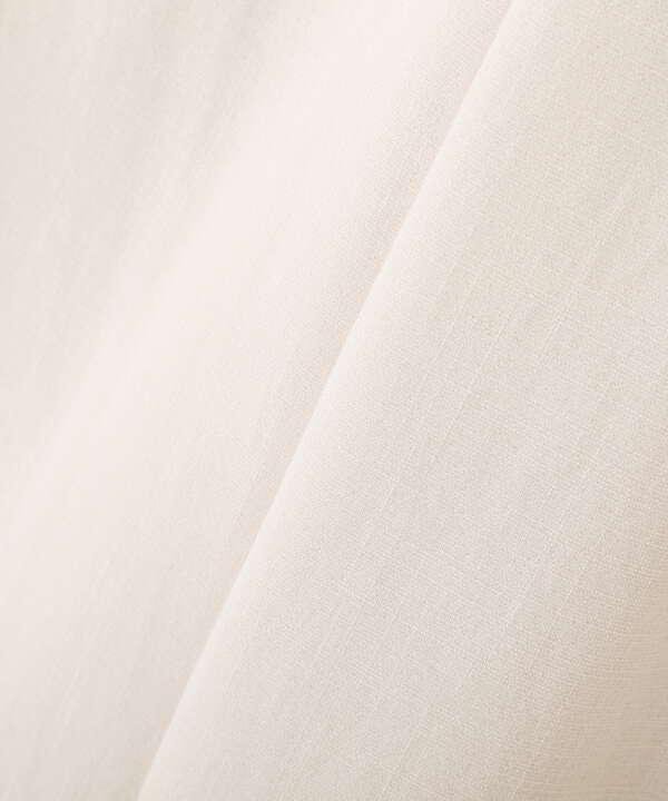 麻調合繊ベルト付き2タックワイドパンツ