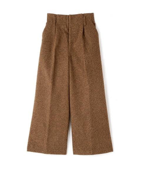 《Sシリーズ対応商品》ミックスツイードハイウエストワイドパンツ