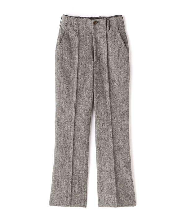 《Sシリーズ対応商品》ヘリンボーンフレアパンツ
