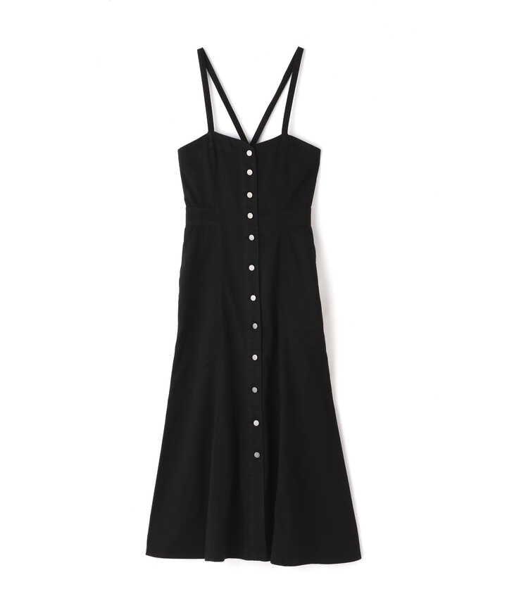 《Sシリーズ対応商品》バックリボンマーメイドデニムジャンパースカート
