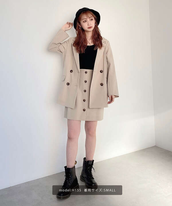 《Sシリーズ対応商品》麻調合繊ダブルブレストジャケット