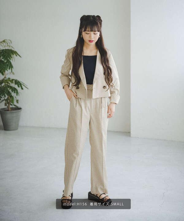 《Sシリーズ対応商品》チェック短丈ジャケット