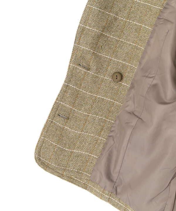 《Sシリーズ対応商品》チェック柄オーバーサイズジャケット