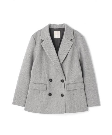 《Sシリーズ対応商品》起毛チェックダブルブレストジャケット