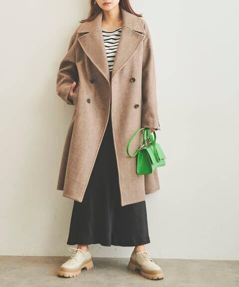 《Sシリーズ対応商品》ジャージメルトンダブルブレストコート