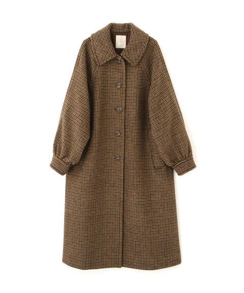 《Sシリーズ対応商品》ウール混ガンクラブステンカラーコート