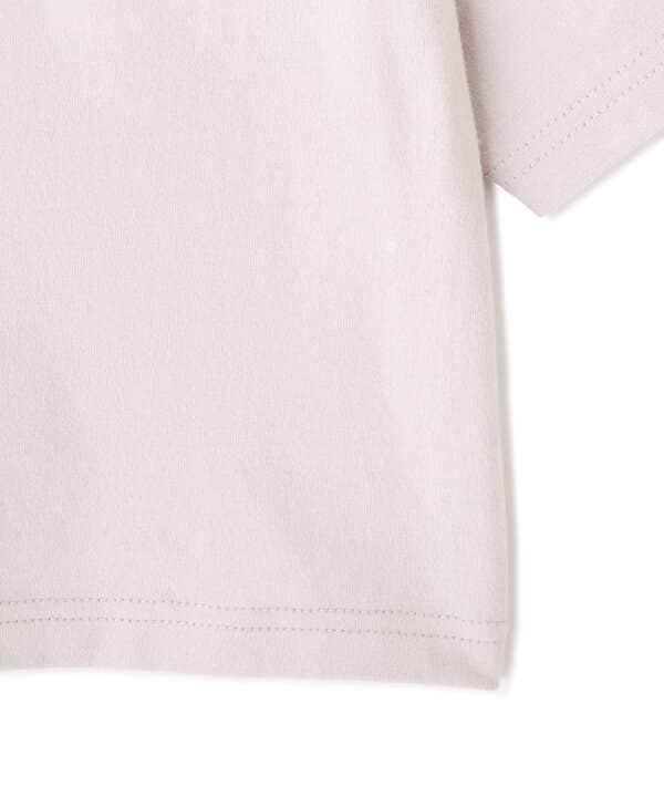 肩パット入り短丈ロゴTシャツ