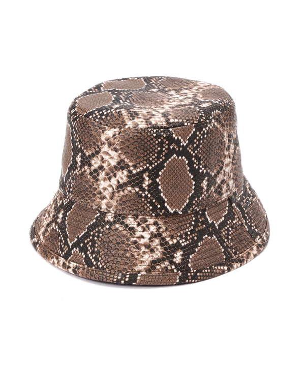 ヘビ柄バケットハット