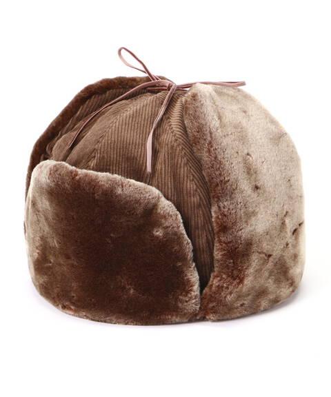 コーデュロイフライト帽