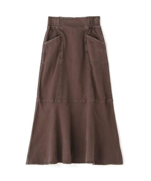 【追加生産予約11月下旬-12月上旬入荷予定】パネル切替マーメイドデニムスカート
