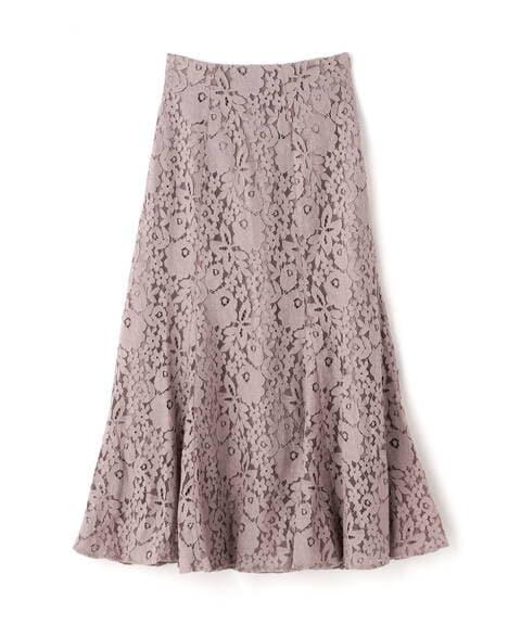 【追加生産予約11月中旬-11月下旬入荷予定】三角マチレースマーメイドスカート