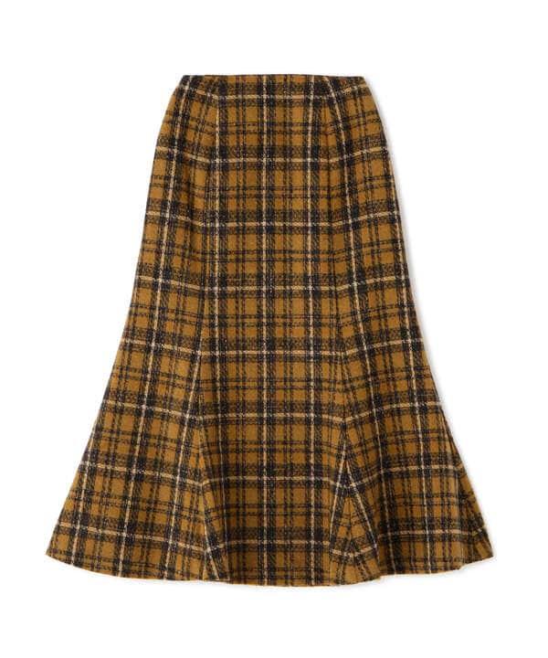 【追加生産予約12月上旬-12月中旬入荷予定】《Sシリーズ対応商品》ツィードチェックナロースカート