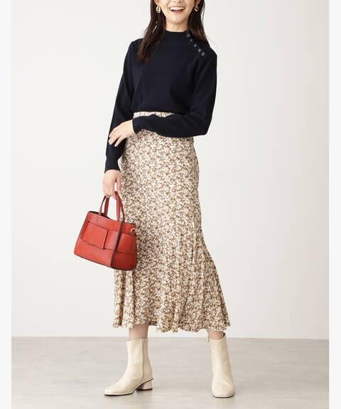 コバナペプラムロングスカート