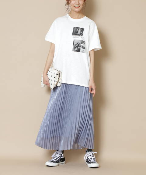 シャイニープリーツスカート