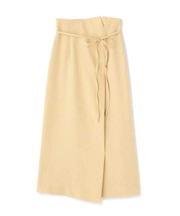 リボン紐ベルト付ラップスカート