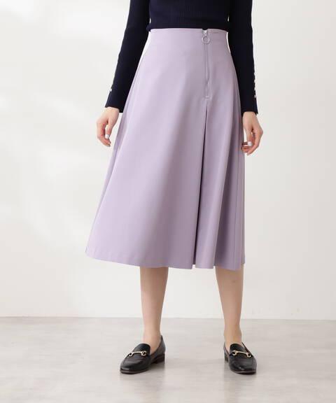 フロントファスナーフレアスカート