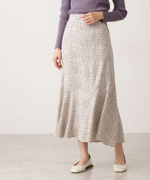 ドットペプラムロングスカート