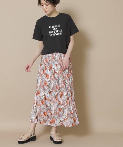 フラワーケシプリーツスカート