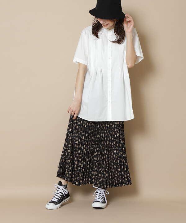 フラワードットプリーツスカート