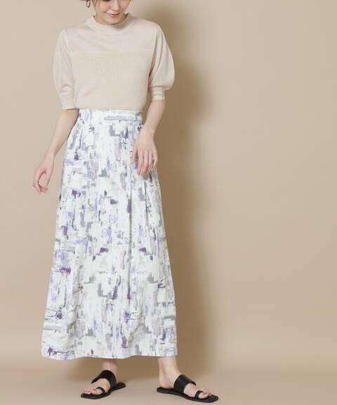 ブラッシュプリントマキシスカート《S Size Line》