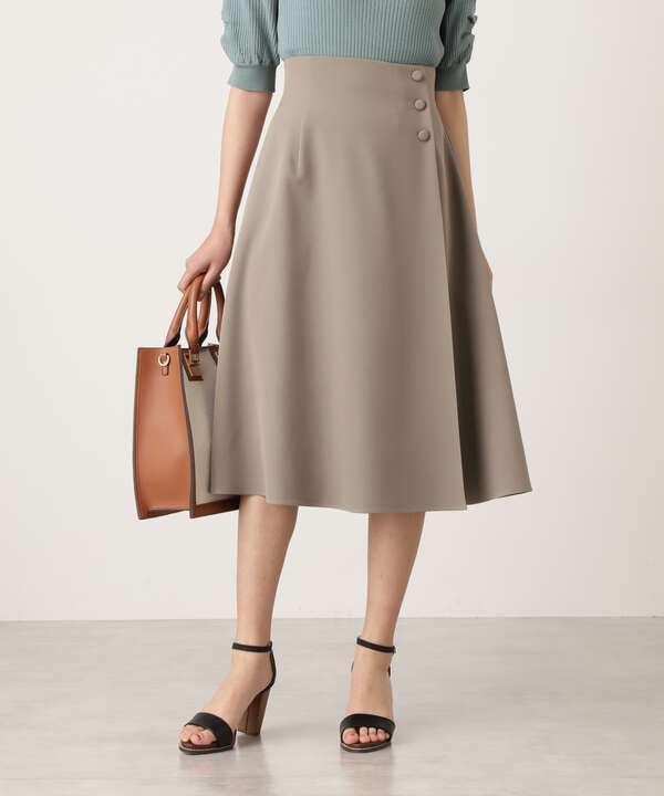 サイドボタンフレアスカート《S Size Line》