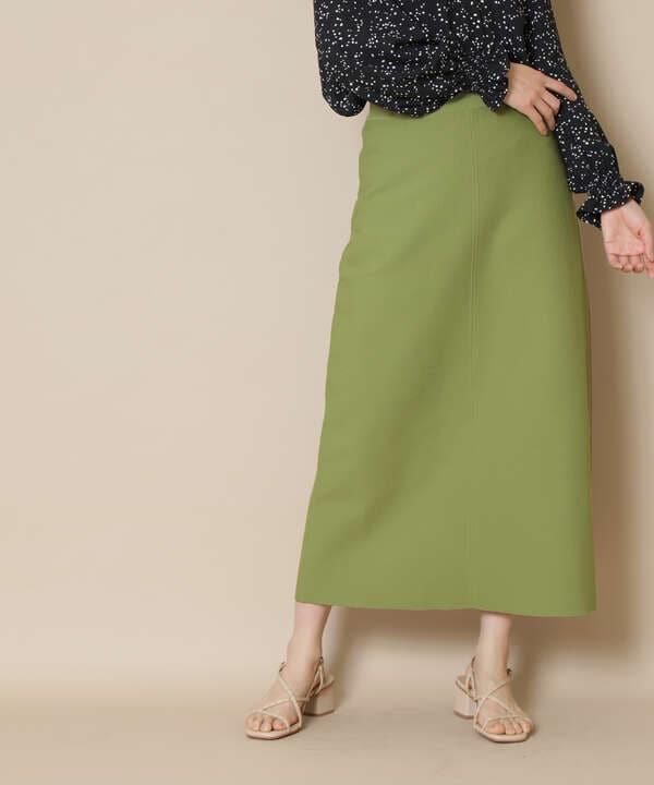 ウォッシャブルニットタイトスカート