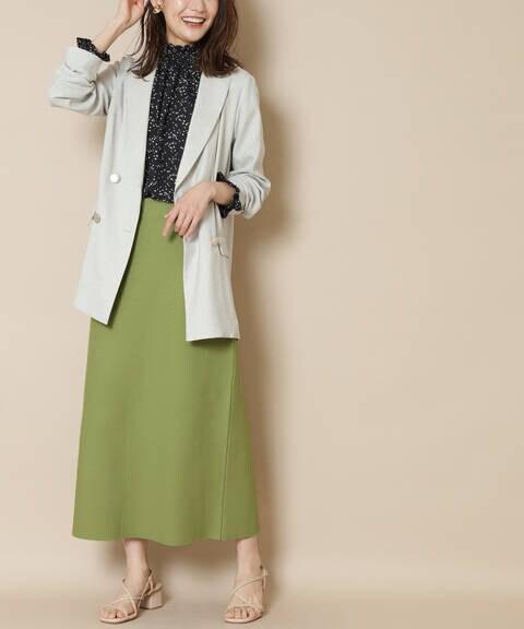 【先行予約4月上旬ー4月中旬入荷予定】ウォッシャブルニットタイトスカート