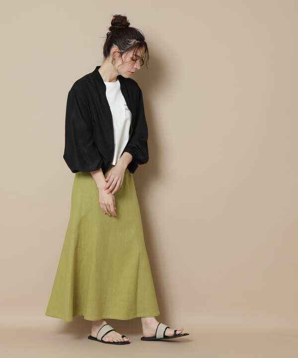 麻混マキシマーメイドスカート《S Size Line》