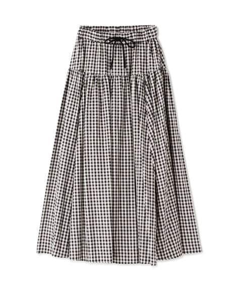 【先行予約4月中旬-4月下旬入荷予定】【佐藤栞里さん着用】ボリュームタフタマキシスカート《S Size Line》