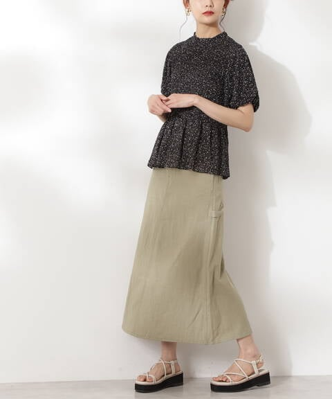 【UNIVERSAl OVERALL】ヘリンボーンスカート