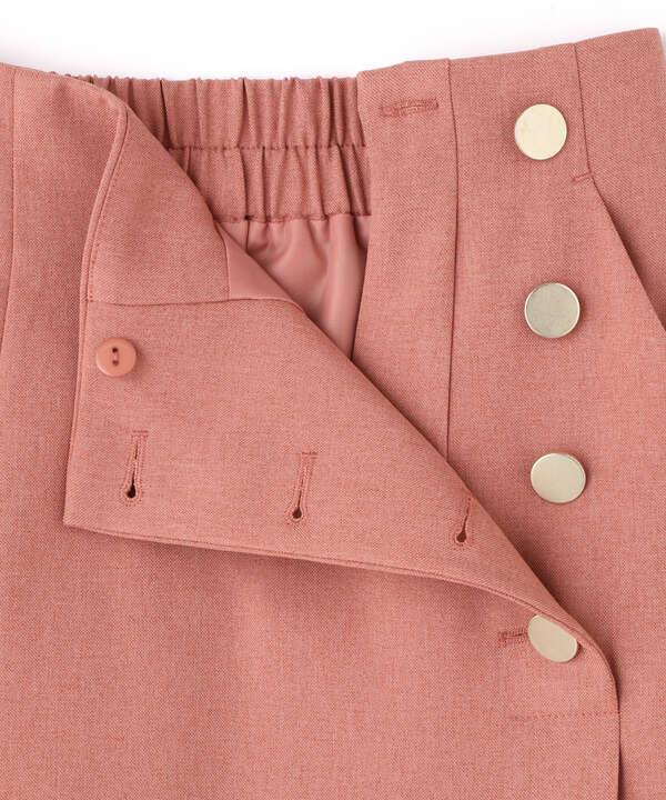 ゴールドボタンラップスカート