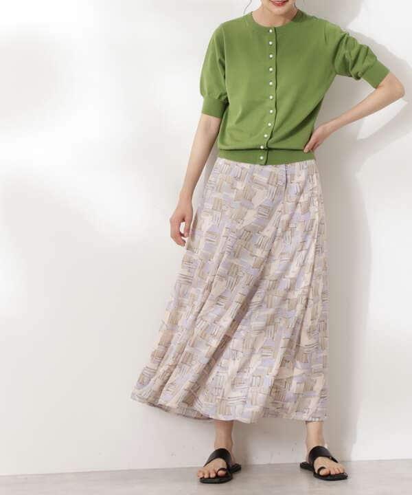 グラフィカルアートプリントマキシスカート《S Size Line》