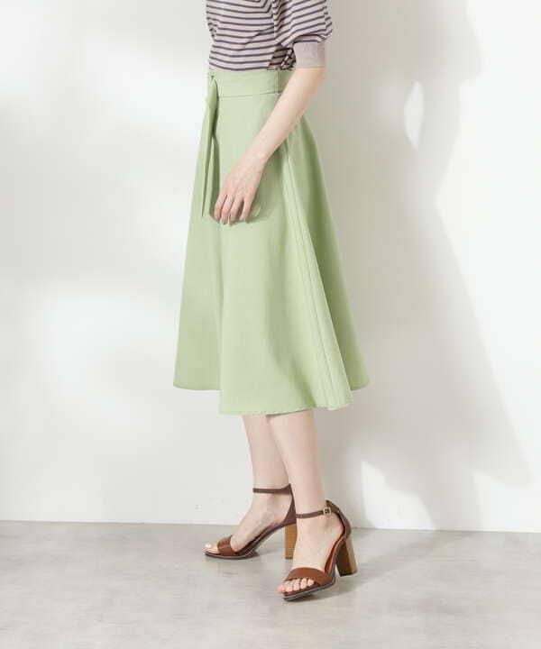 クルミバックル付フレアスカート