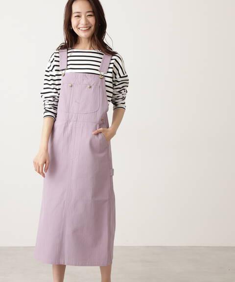 【UNIVERSAL OVERALL】HERRINGBONE ジャンパースカート