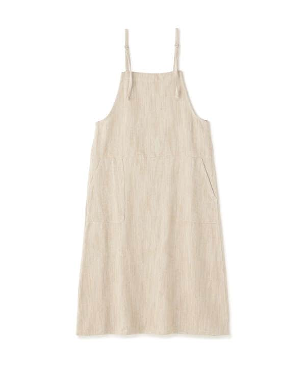 コットン麻ジャンパースカート