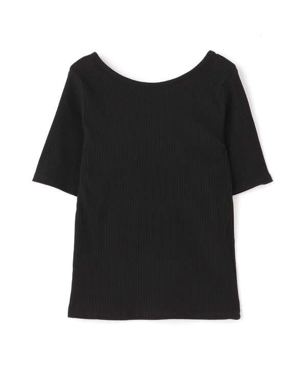 バレエネックリブTシャツ