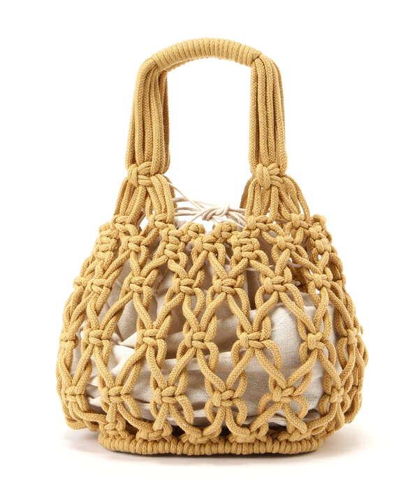 ロープ編みトートバッグ