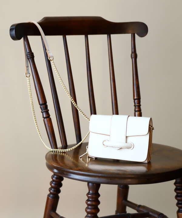 ボリュームベルトチェーンミニショルダーバッグ